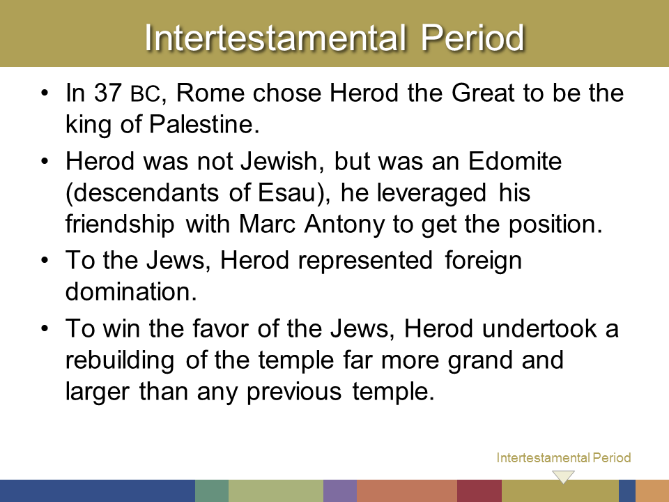 the intertestamental period the jewish backgrounds Background the general background on the finding of the scrolls in 1947 can be  24 qumran and the intertestamental period  history of the jewish people, 2.